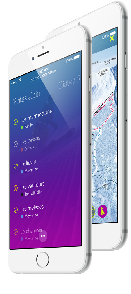 Création d'application mobile pour stations de ski -  WebSenso